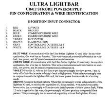 whelen power supply wiring diagram whelen ub412 power supply info elightbars  whelen ub412 power supply info elightbars